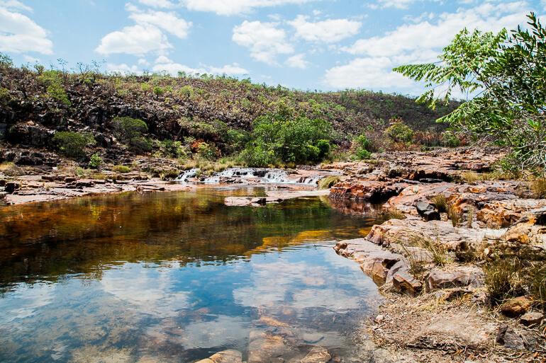 Catarata dos Couros - poços formados pelo rio