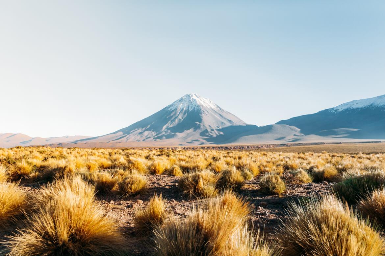 Vista para o Vulcão Licancabur
