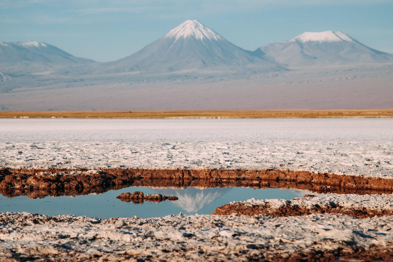 O (lindíssimo) Vulcão Licancabur refletido! - Laguna Tebinquinche
