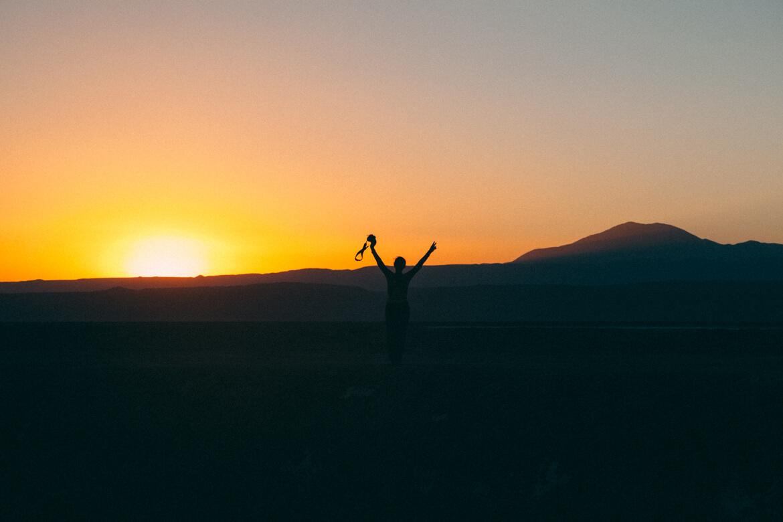 Por do sol no Deserto do Atacama