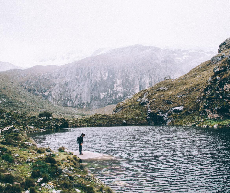 Laguna 68, Região de Ancash - ainda faltava bastante para a 69 - Chile Bolívia Peru