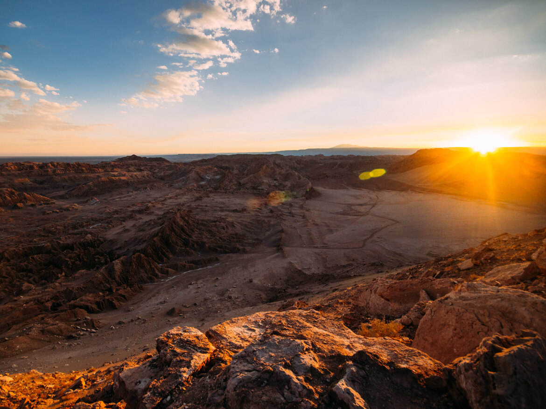 Por do Sol no Valle de La Muerte, Deserto do Atacama
