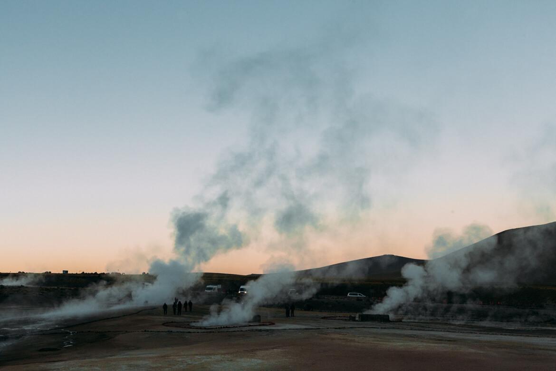 Geysers el Tatio - os geysers em atividade