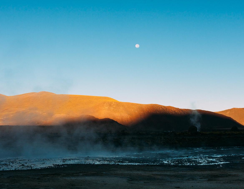 Geysers el Tatio - à medida que o sol vai subindo a atividade dos Geyseres vai diminuindo
