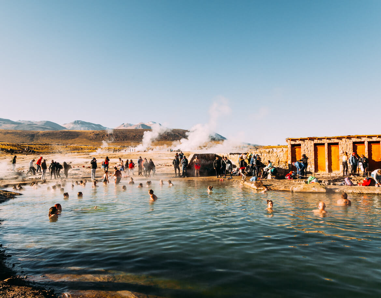 Geysers el Tatio - piscina termal, quentinha e relaxante