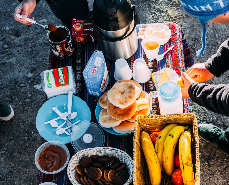 Geysers el Tatio - café da manhã servido nos geiseres