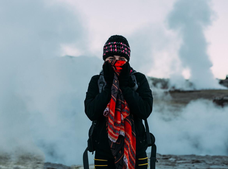 Geysers el Tatio - faz muito frio ao amanhecer!