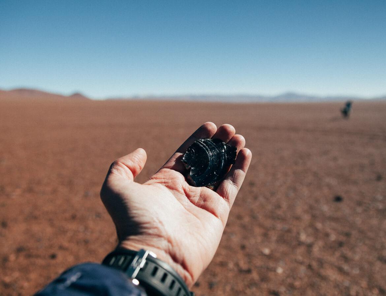 Pedra vulcânica encontrada no tour do Salar de Tara