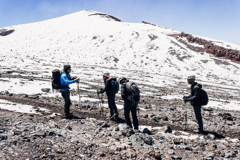 Vulcão Lascar - orientações durante a caminhada
