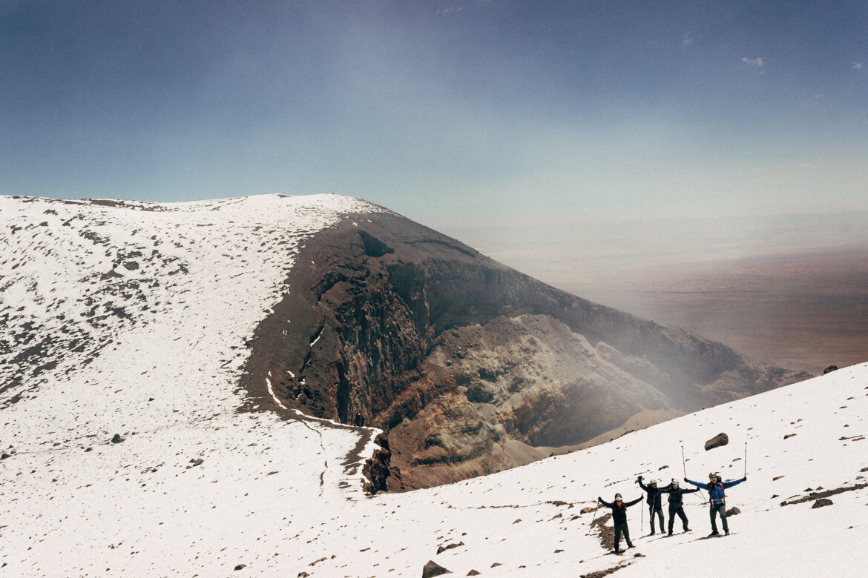 Vulcão Lascar - a enorme cratera do Lascar