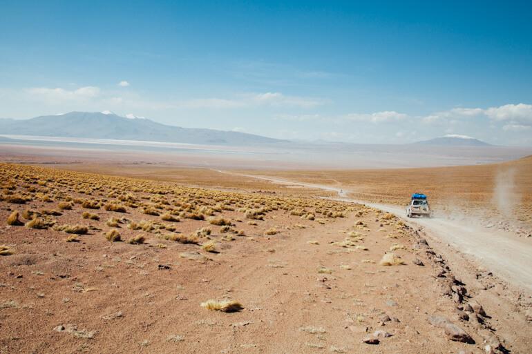 Caminho para a Laguna Colorada | Viajando na Janela
