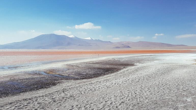 A imensidão da Laguna Colorada   Viajando na Janela