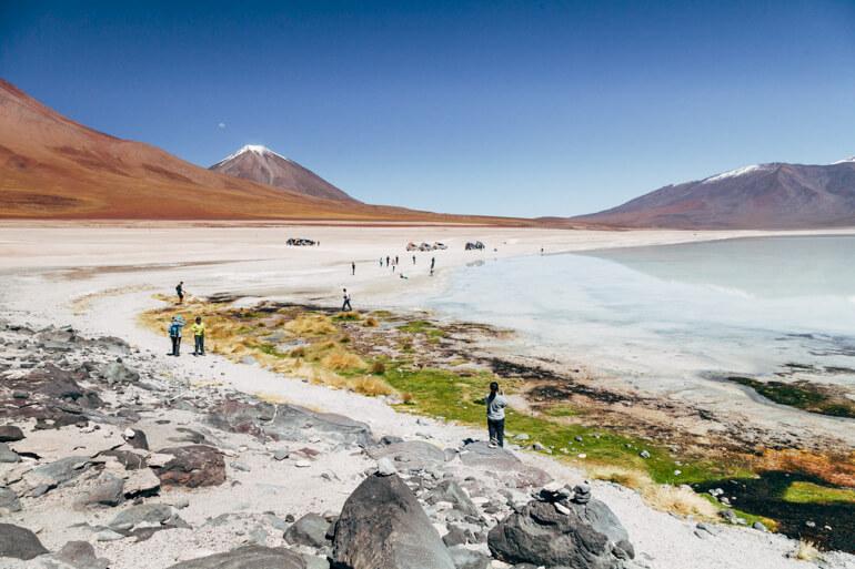 Laguna Blanca   Viajando na Janela - Salar de Uyuni, primeiro dia