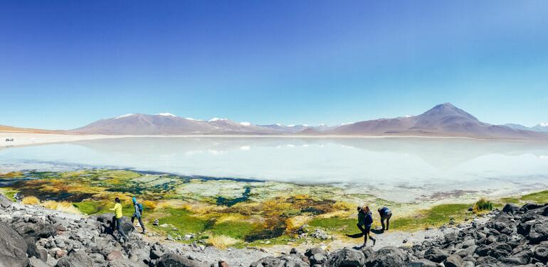 Laguna Blanca - vista panorâmica   Salar de Uyuni - primeiro dia
