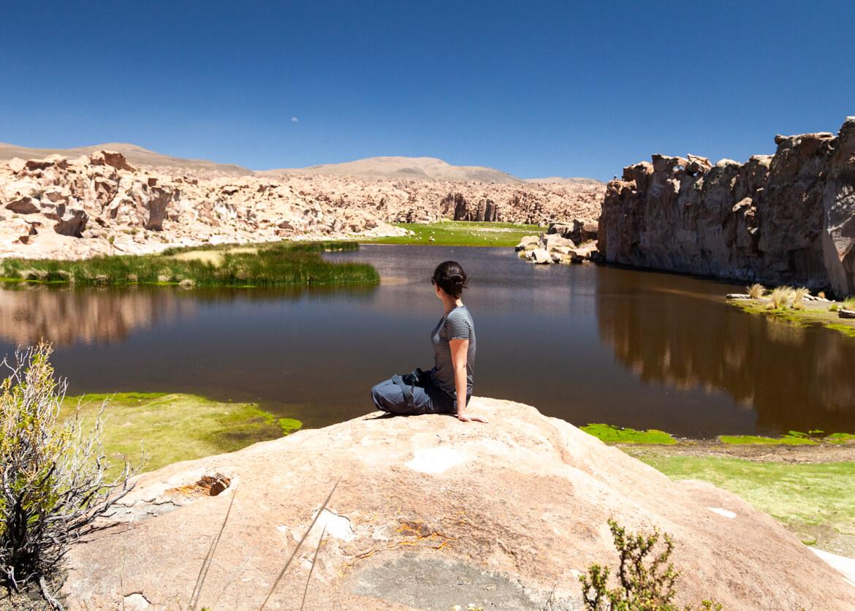 Travessia do Salar de Uyuni | Laguna Catal, também conhecida como Laguna Negra ou Laguna Misteriosa