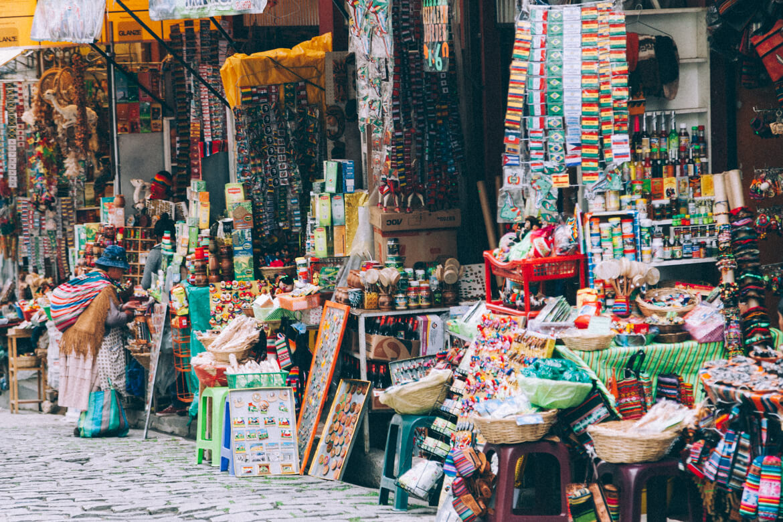 No mercado, sempre peça permissão para tirar fotos. Nem todos os lugares são permitidos.