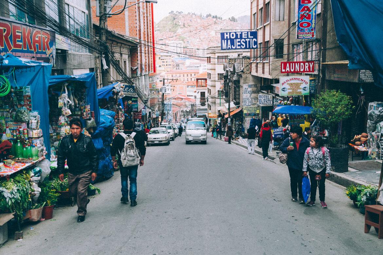 O que fazer em La Paz - Uma das várias ladeiras de La Paz