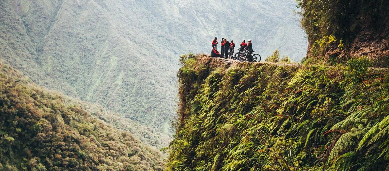 downhill na estrada da morte, la paz, bolívia