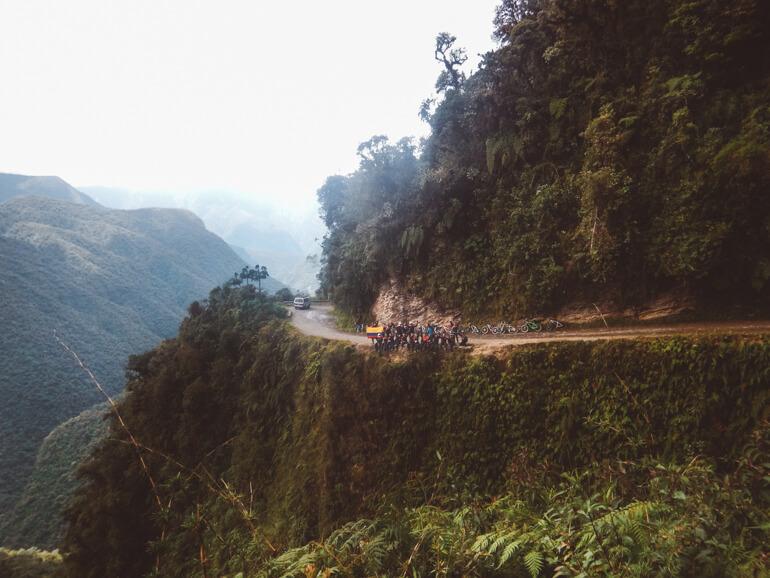 Estrada da Morte, Bolívia, grupo