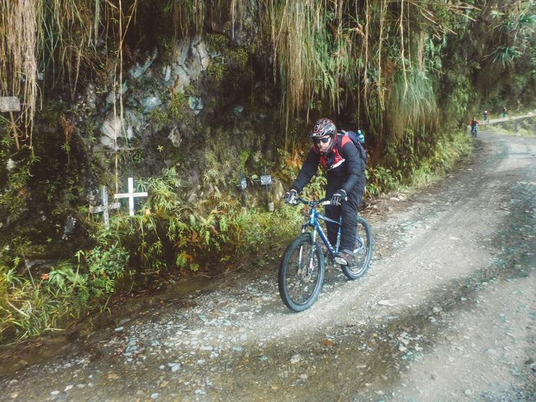 Estrada da Morte, Bolívia: descendo de bicicleta