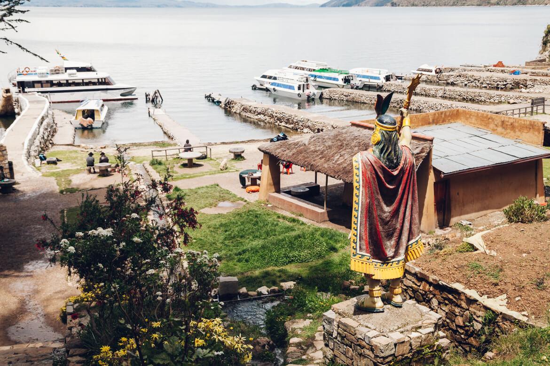 Isla del Sol - estátua