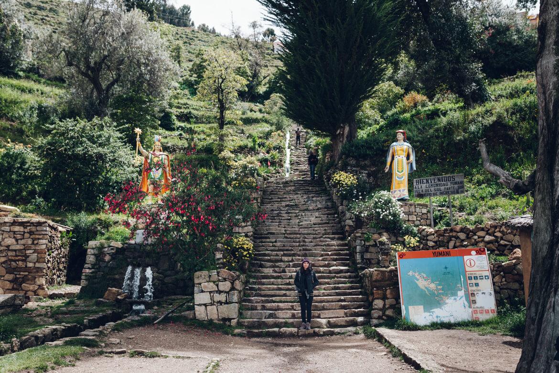 Isla del Sol - escadaria