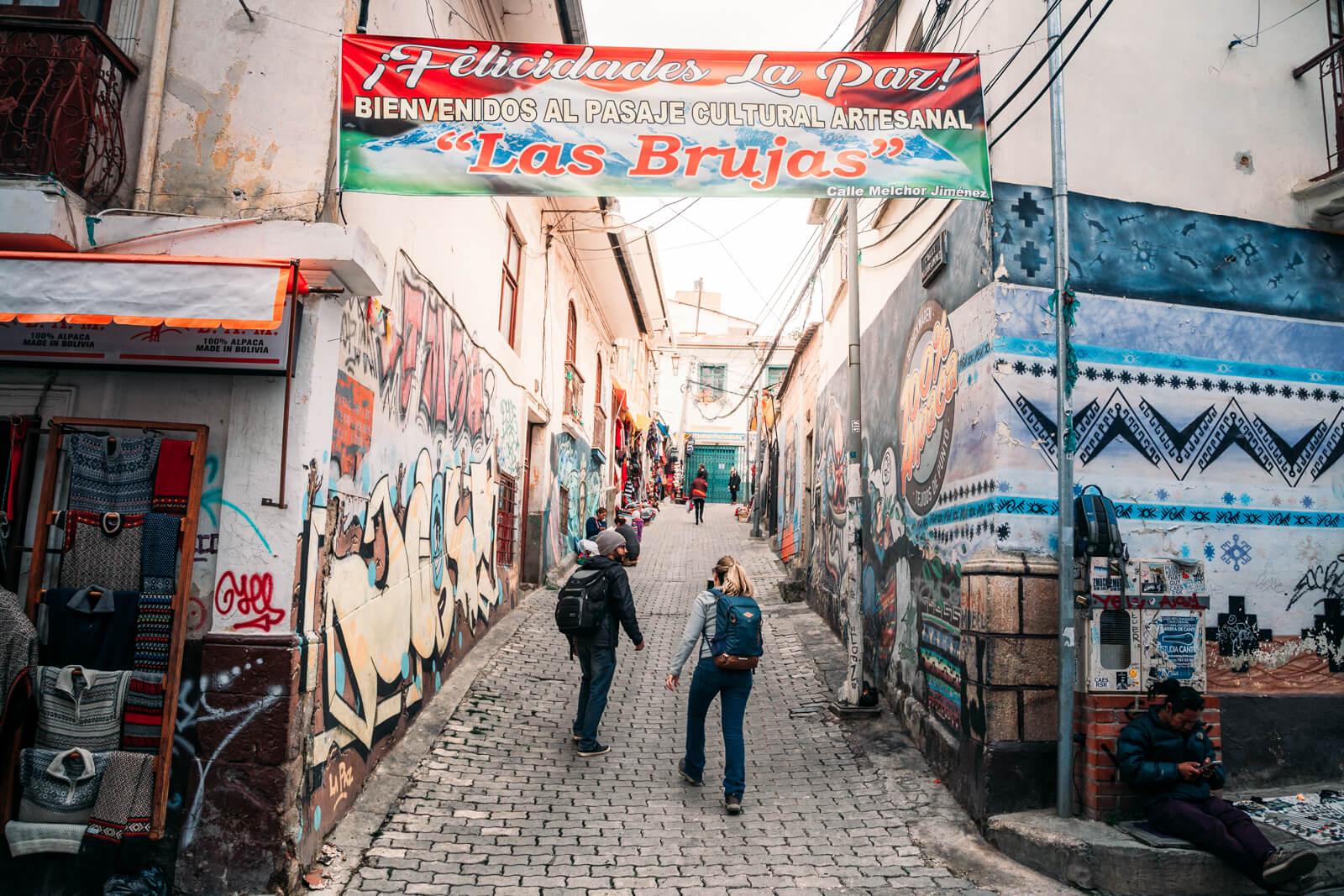 Mercado das Bruxas de La Paz - uma das entradas