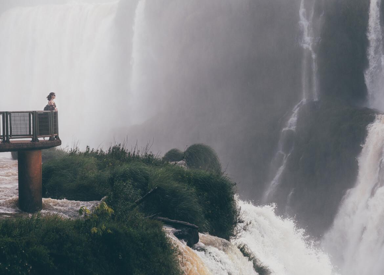 Mirante incrível nas Cataratas do Iguaçu