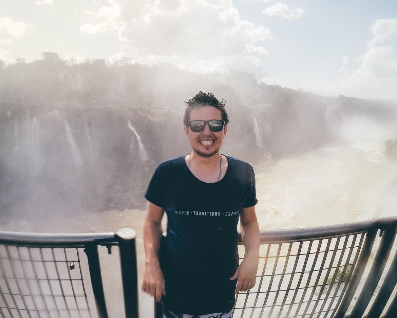 Banho nas Cataratas do Iguaçu