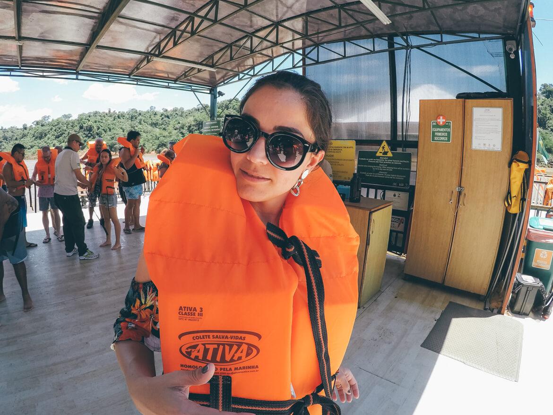 Colete salva-vidas é requisito obrigatório para a terceira parte do Macuco Safári
