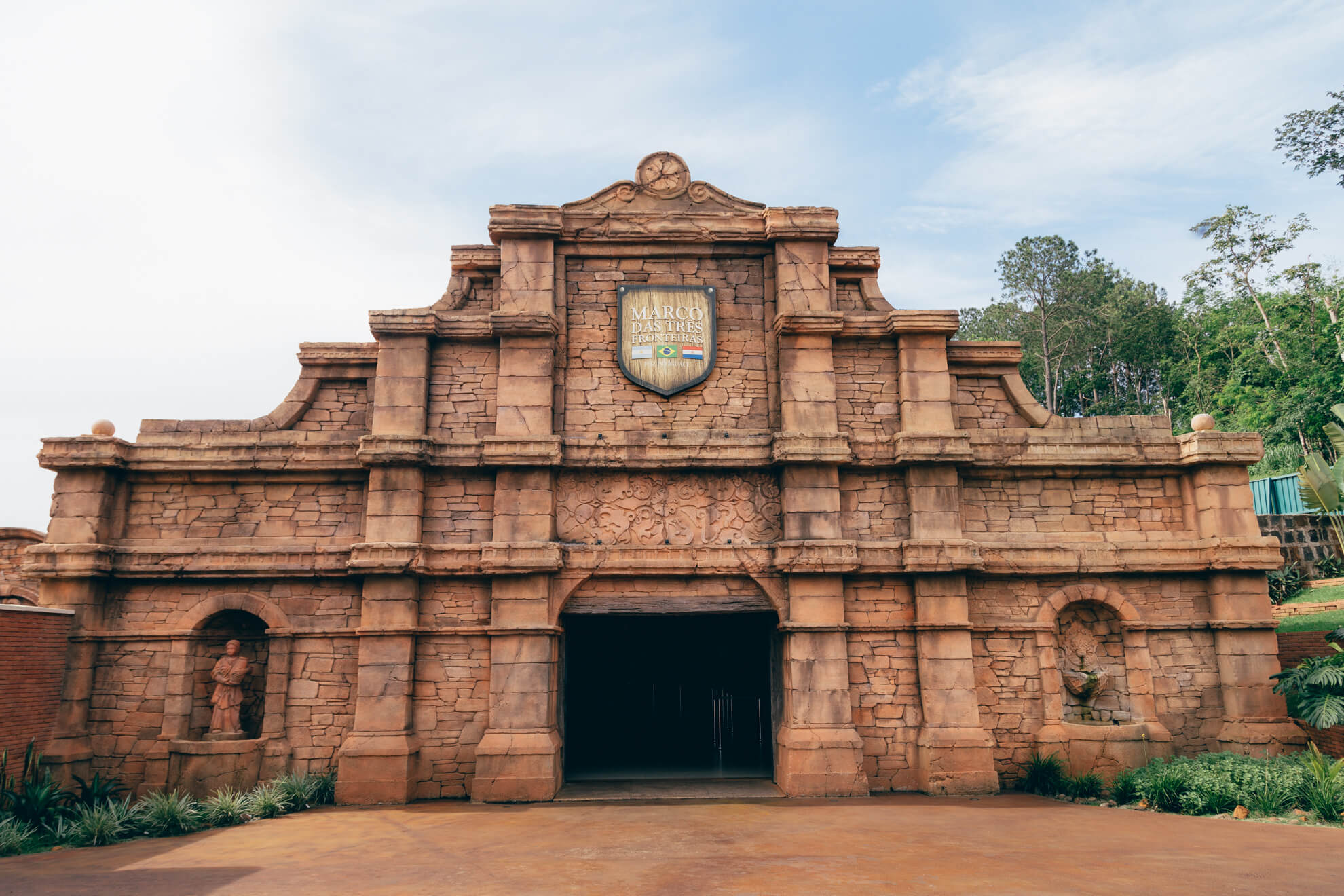 Centro de Visitantes, entrada do Marco das Três Fronteiras