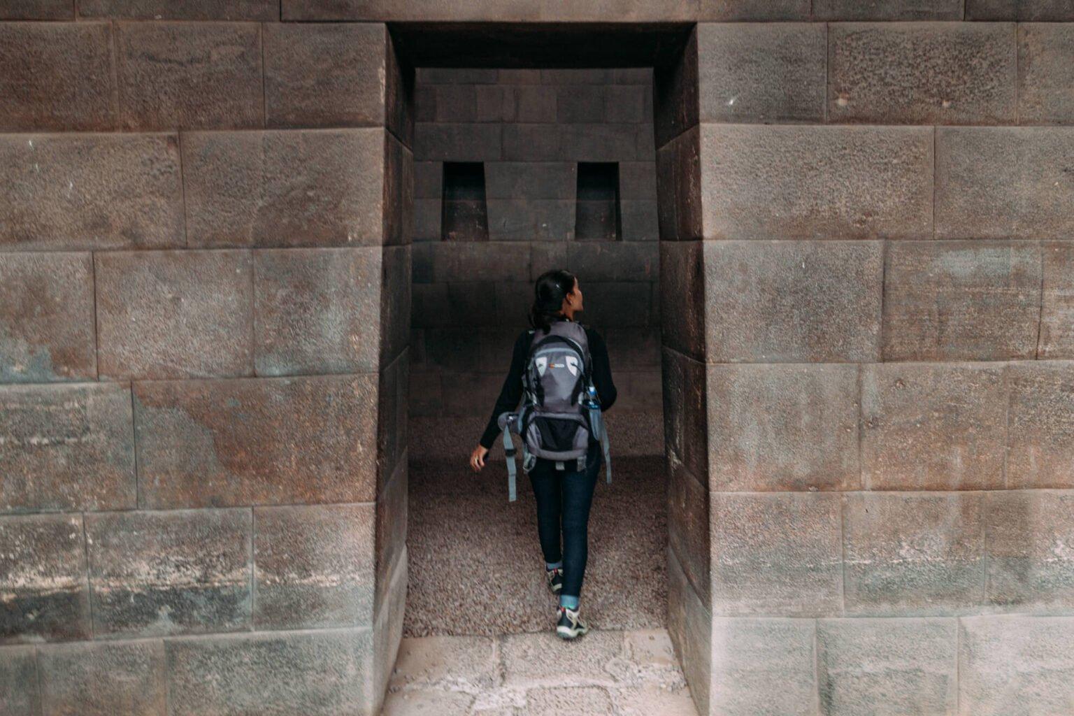 Uma das salas do imenso templo inca