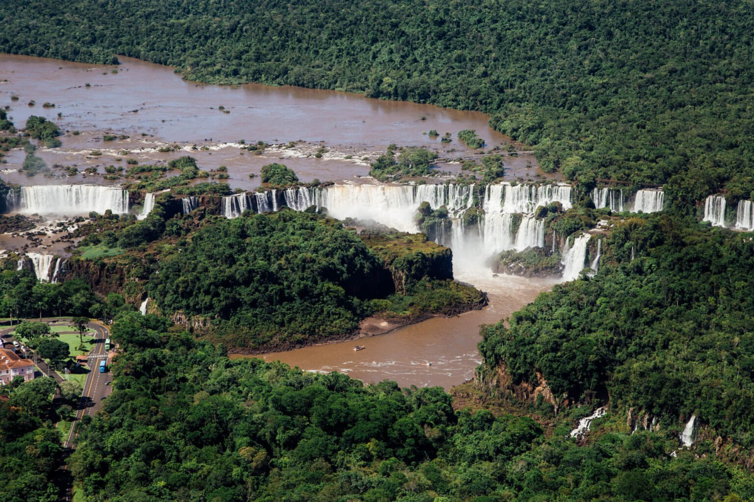 Cataratas do Iguaçu vista do alto