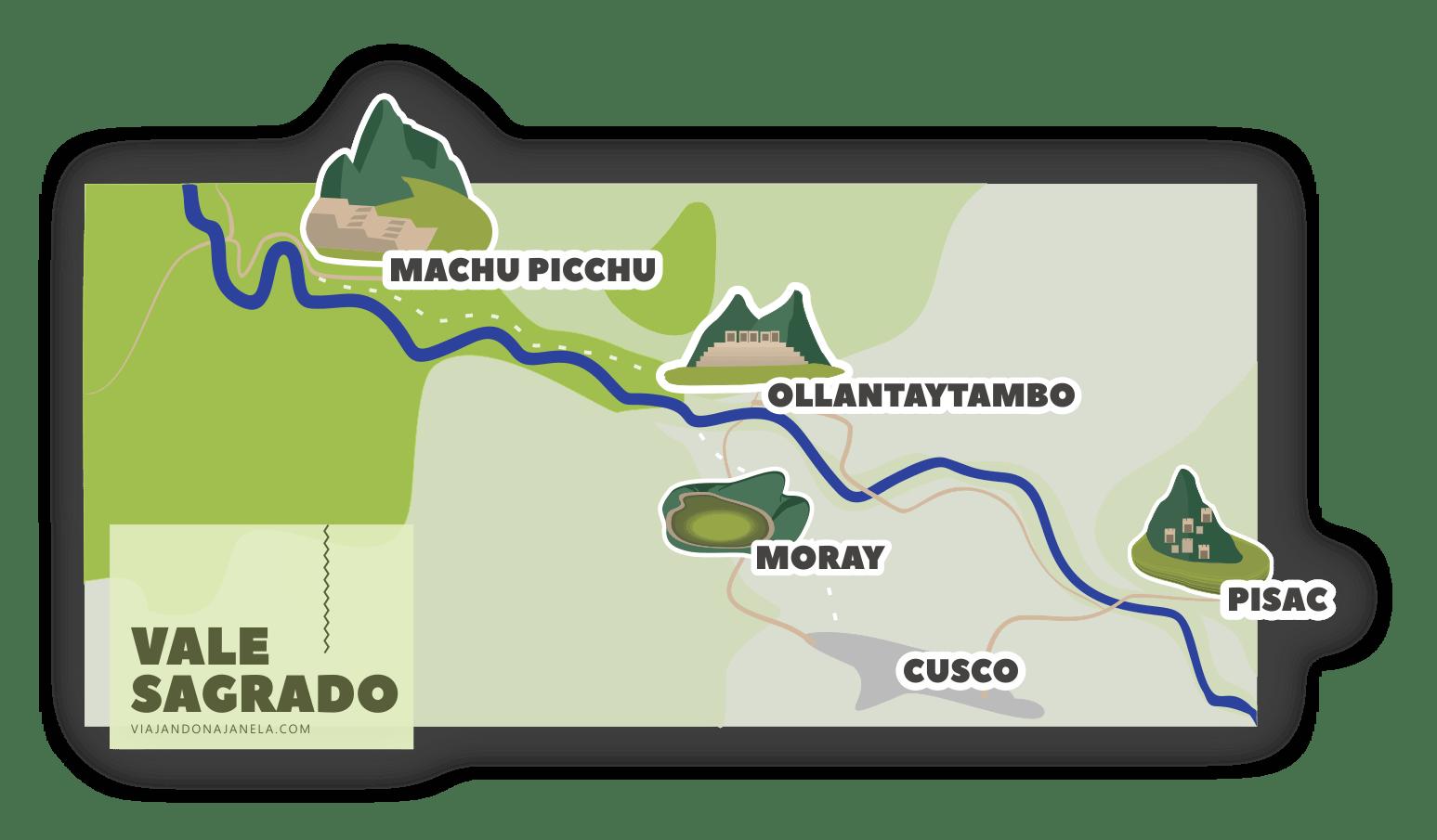 Mapa do Vale Sagrado