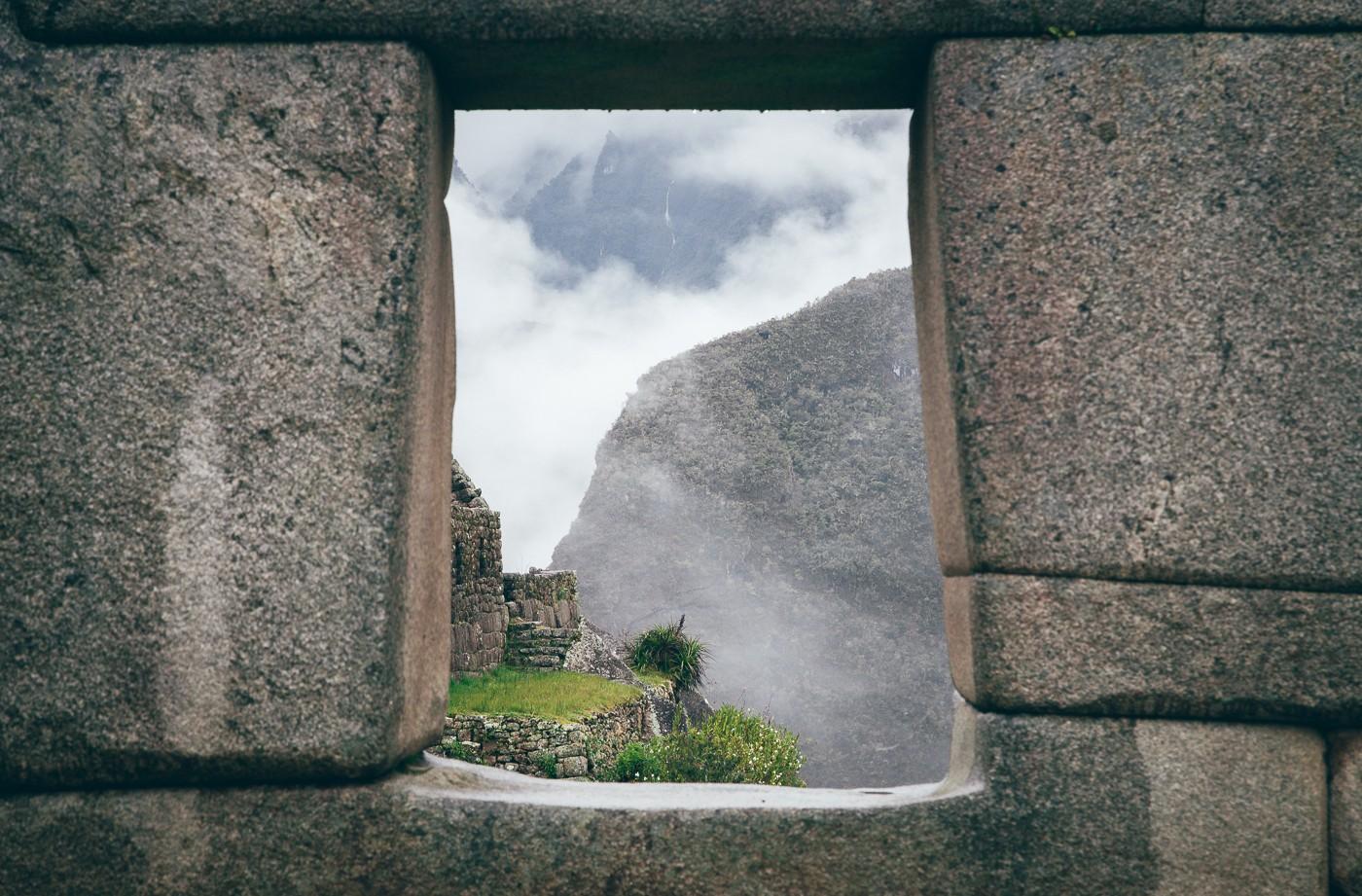 Detalhe das antigas construções incas