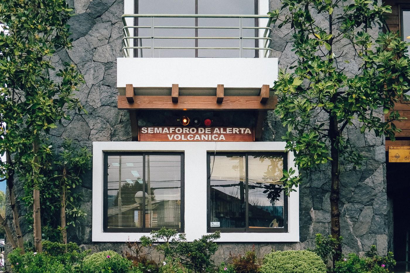 Semáforo de Alerta Vulcânico   Pucón, Chile
