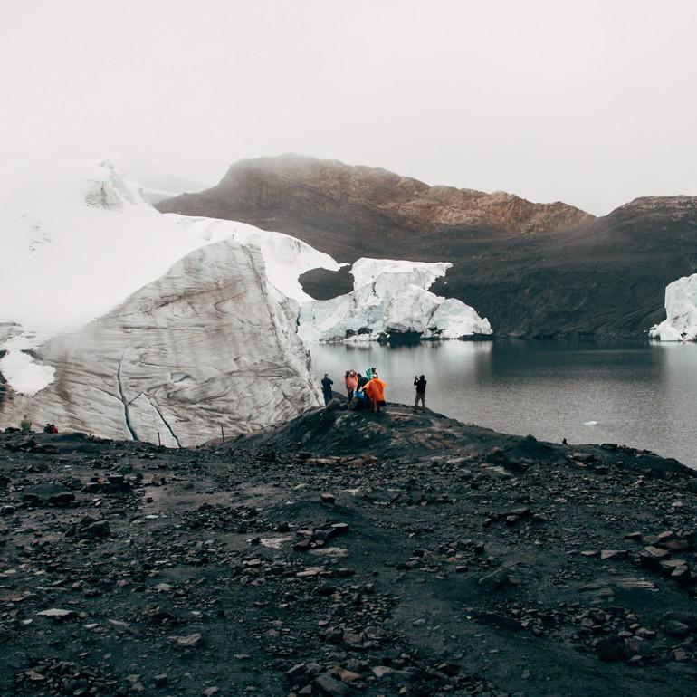 Turistas no Glaciar Pastoruri