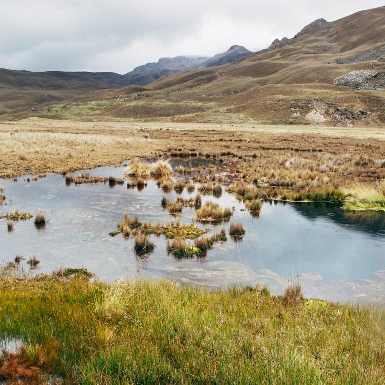 Caminho para o Glaciar Pastoruri: Laguna de Siete Colores
