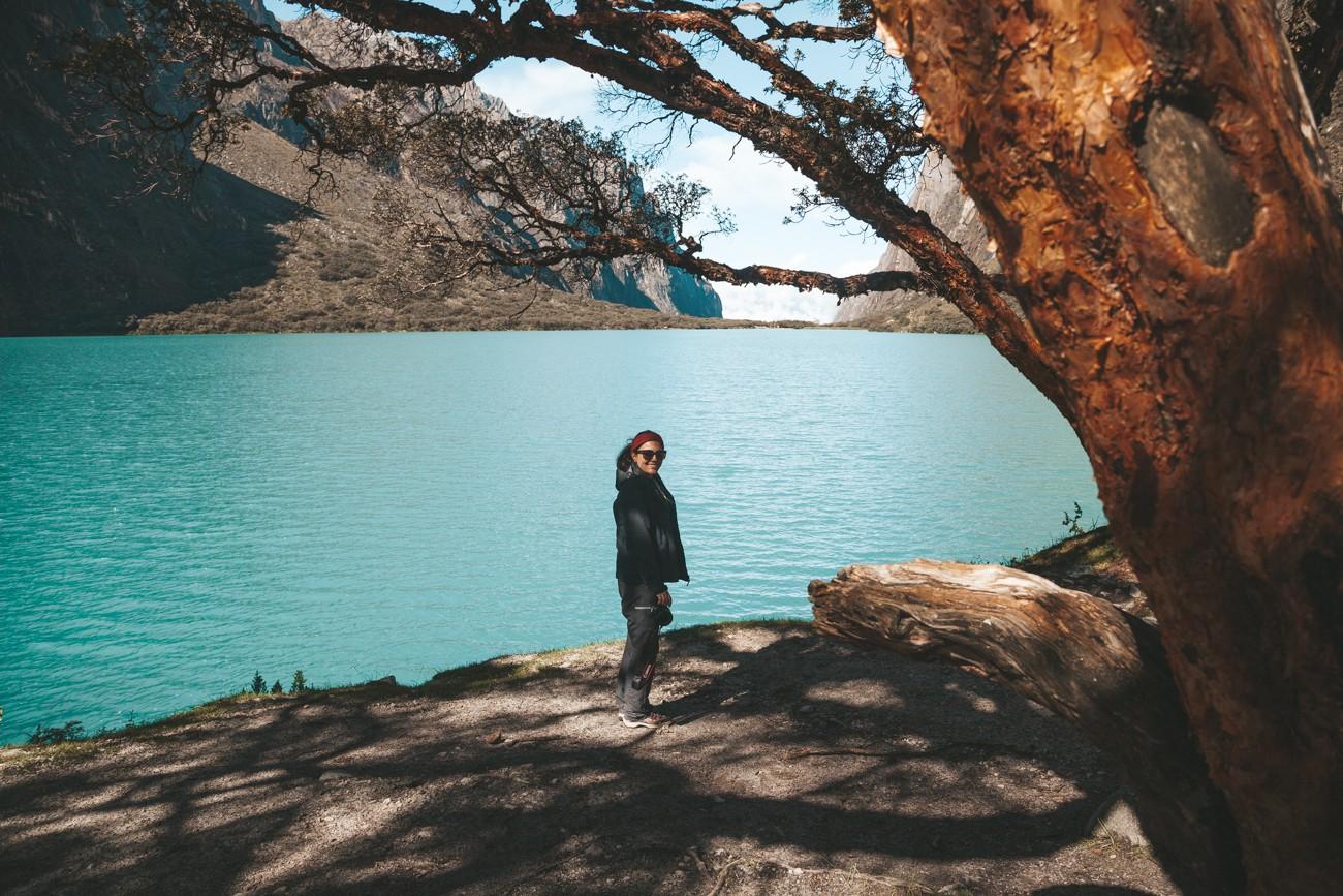 Laguna 69, Peru - paradinha na Laguna Llanganuco
