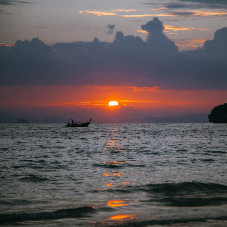 Entardecer em Railay Beach