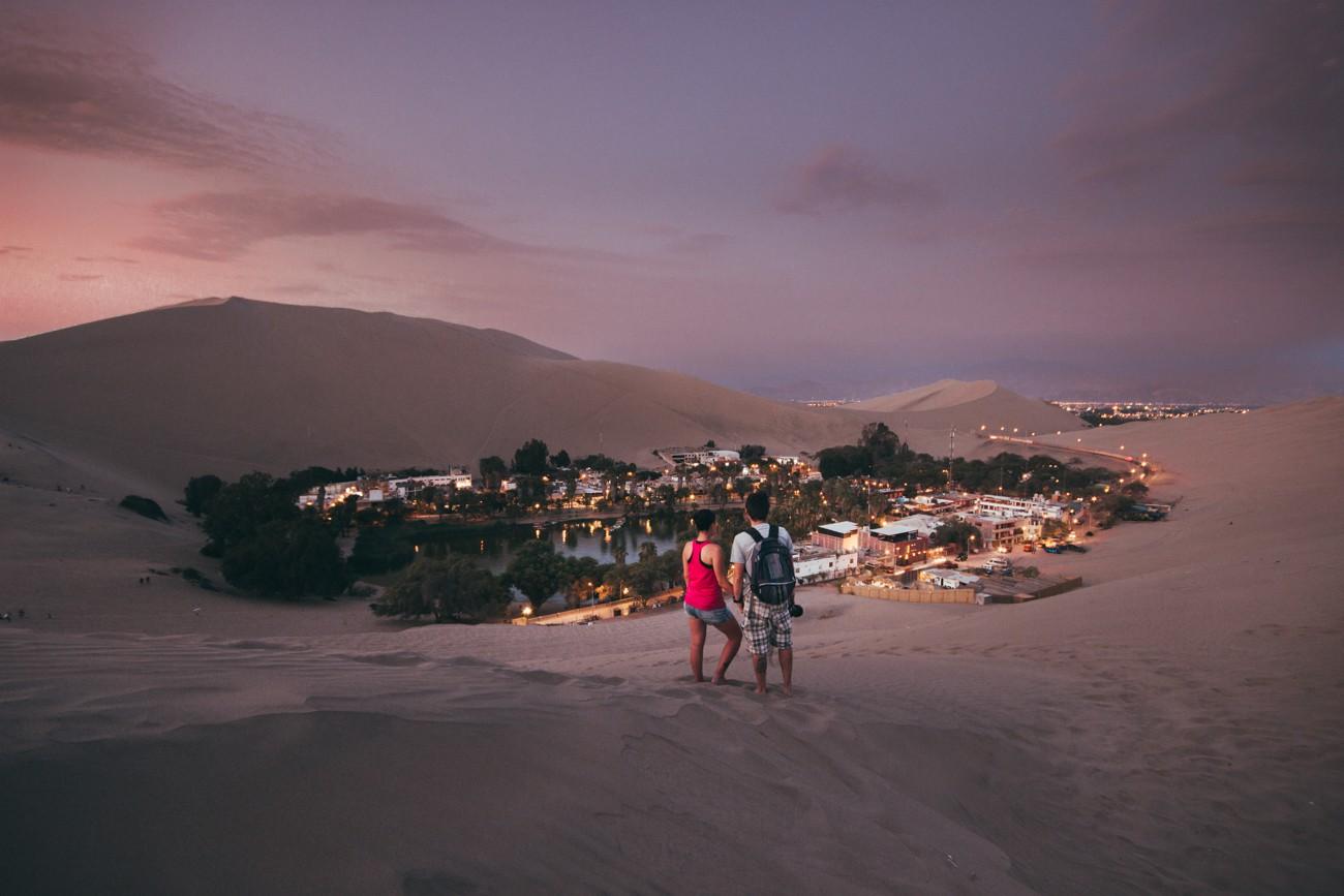 Anoitecer em Huacachina
