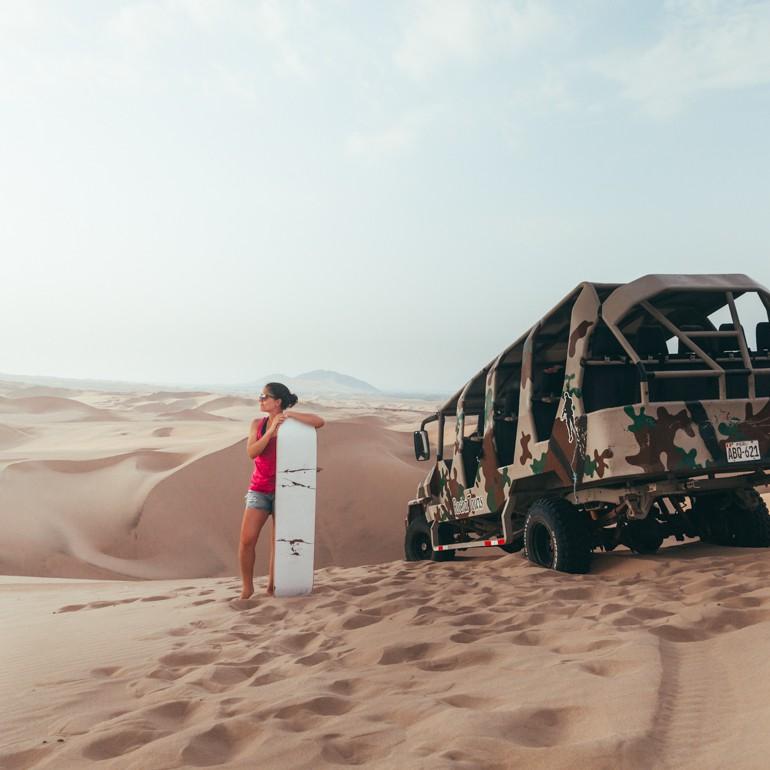 Hucachina, Peru: Passeio de buggy pelas dunas