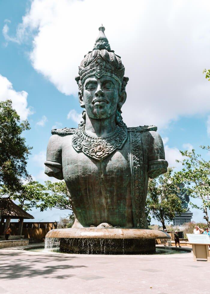 GWK - Garuda Wisnu Park - Indonésia - Bali - Uluwatu - busto de Vishnu