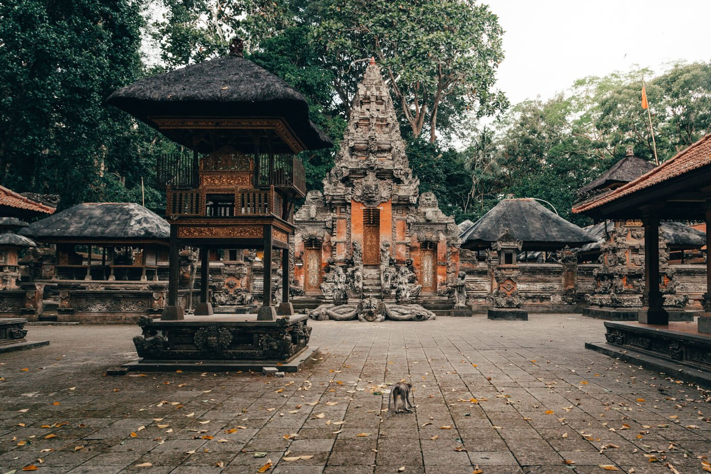 Monkey Forest, Ubud, Bali - templo