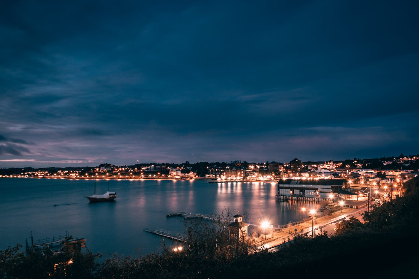 Puerto Varas à noite