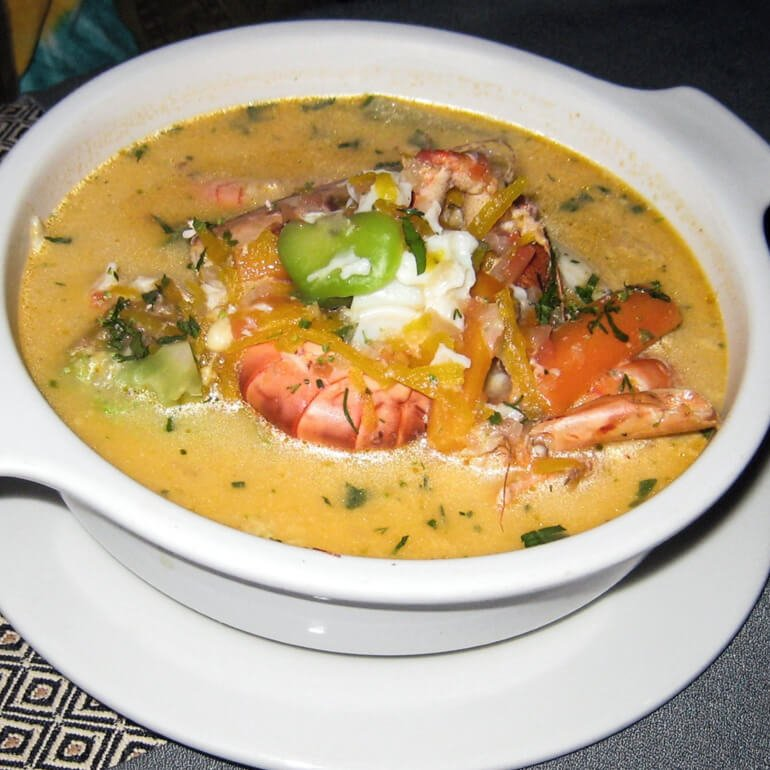 Comida peruana - chupe (comida típica do Peru)