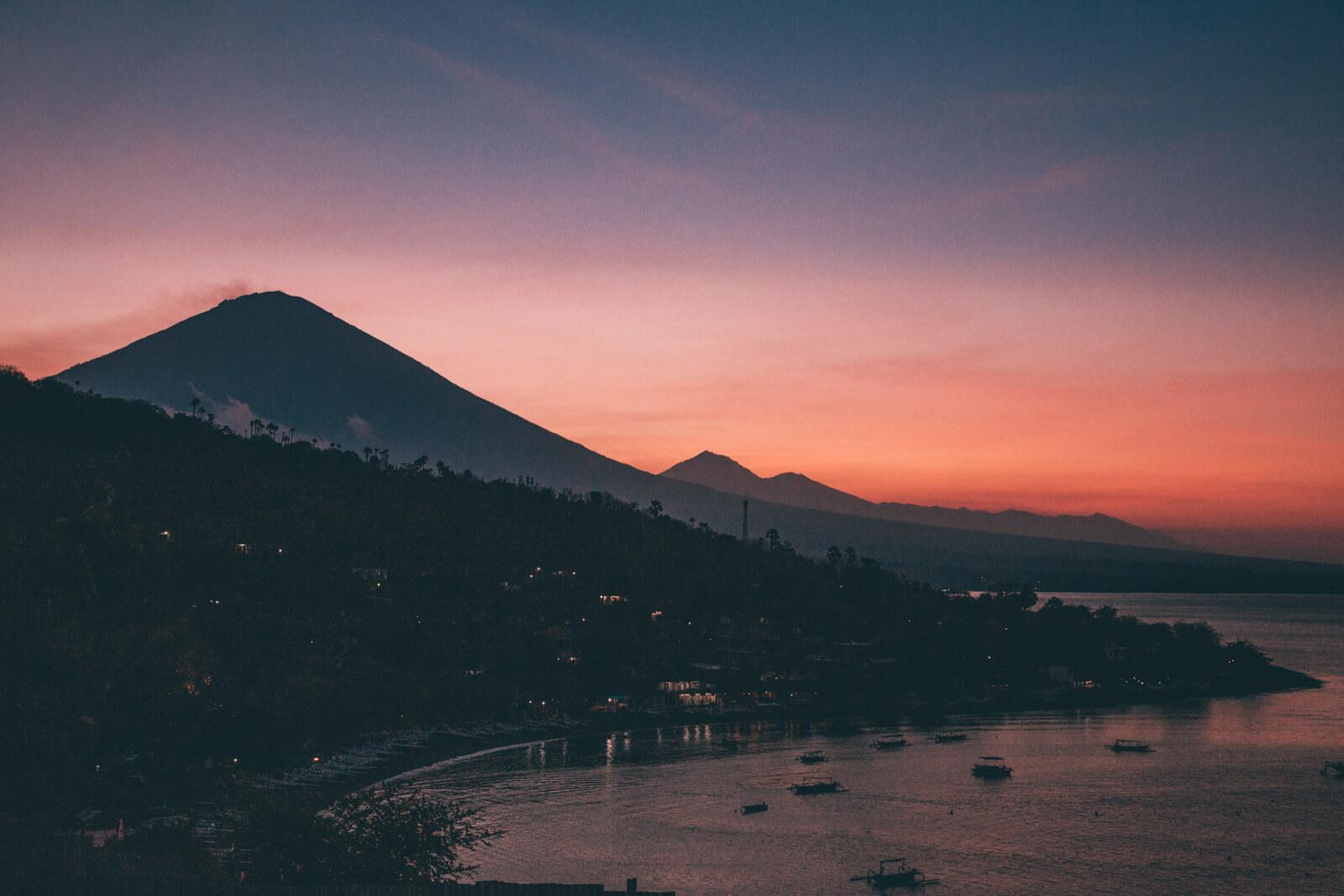 Por do Sol em Amed, Bali