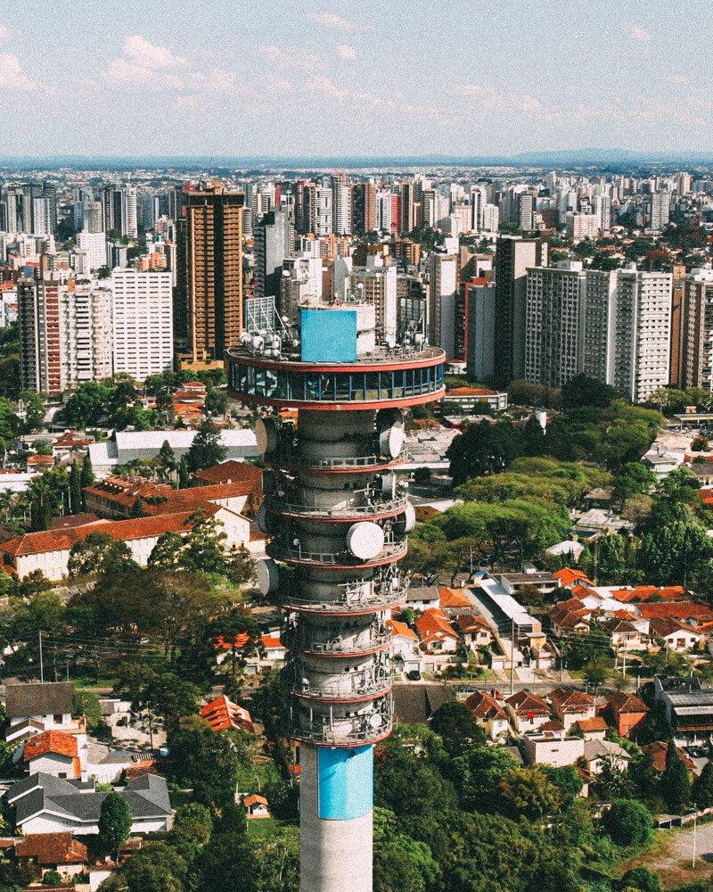 O que fazer em Curitiba - torre panorâmica da Oi