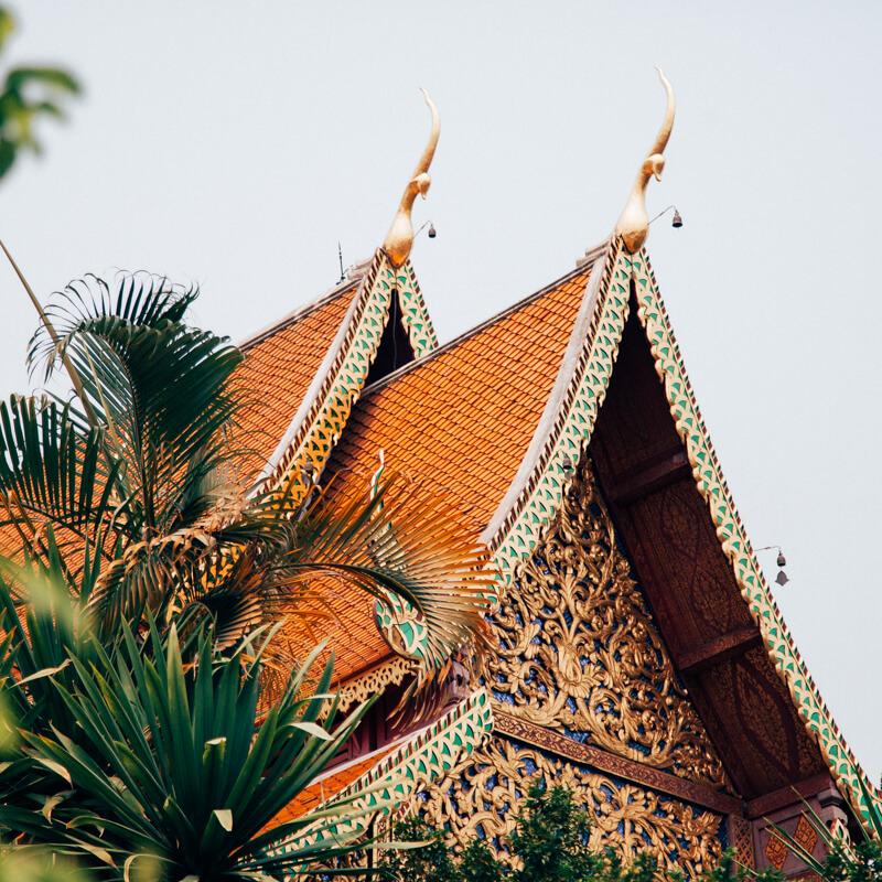 Detalhe do Wat Phra That Doi Suthep - Chiang Mai Tailândia