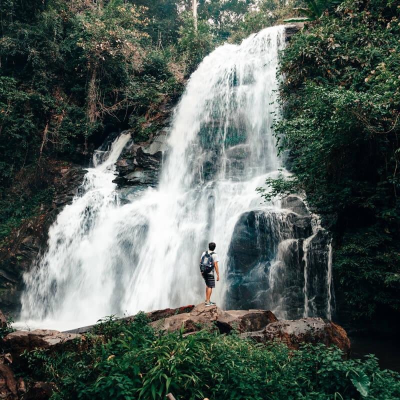 Cachoeira no Doi Inthanon - Chiang Mai Tailândia